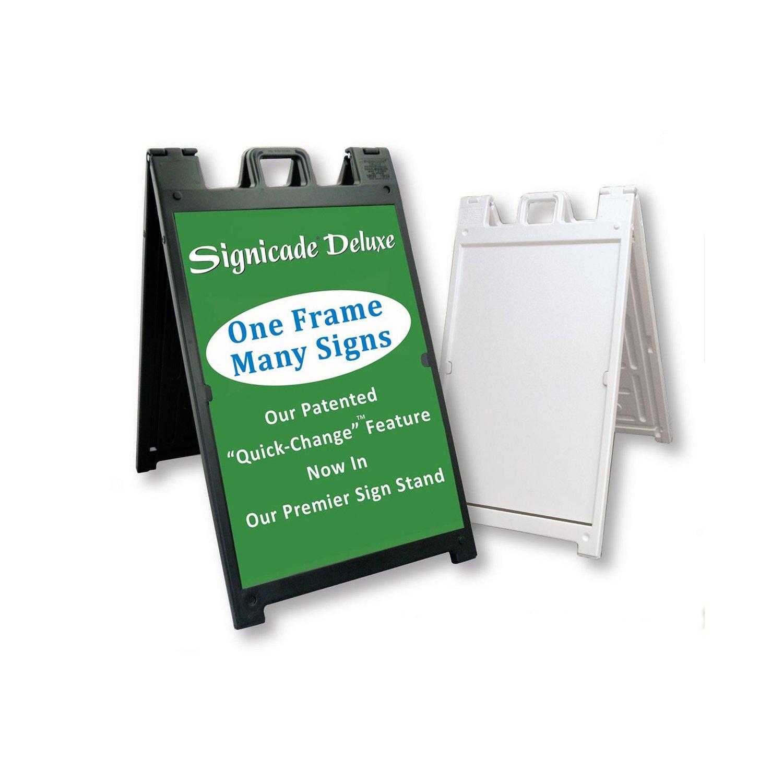 Amazon.com : Plasticade - Signicade Deluxe - A-Frame Sidewalk Curb ...