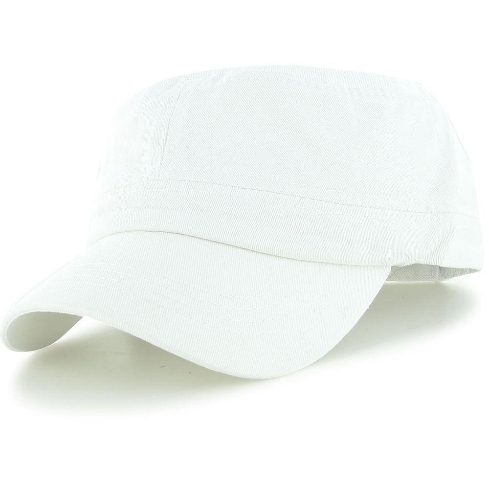 Easy-W White Military Style Caps Hat Unizex Bucket