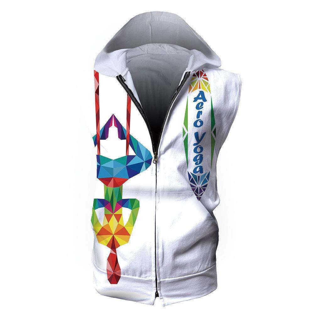 Amazon.com: Mens Waistcoat Casual Hooded,Yoga,Aerial Aero ...