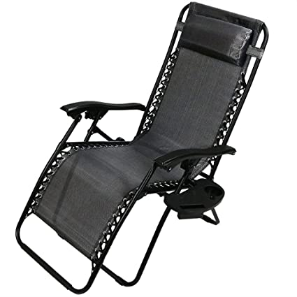 Cool Sunnydaze Outdoor Zero Gravity Lounge Chair With Pillow And Cup Holder Folding Patio Lawn Recliner Charcoal Inzonedesignstudio Interior Chair Design Inzonedesignstudiocom