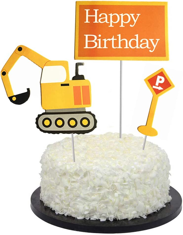 Terrific Amazon Com Bbgparty Construction Truck Birthday Cake Topper For Birthday Cards Printable Benkemecafe Filternl