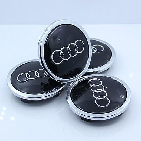 Amazon.com: ZZHF1 Wheel Centre Hub Caps 69mm for Audi Badge Emblem 4B0601170A (4Pcs) (Black): Automotive