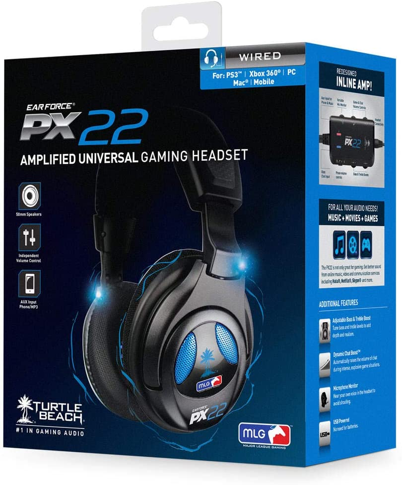 Turtle Beach PX22 Universal Amplified Gaming Headset - PS3 and Xbox 360:  Ps3 Accessories: Amazon.co.uk: PC & Video Games