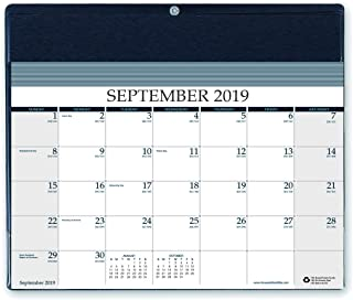 product image for House of Doolittle Reminder Wall Calendar, 16 Month September 2019 to December 2020, 11-1/2 x 9-3/4 in, Black Refillable Vinyl Holder (HOD13502-20)