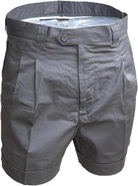 TALLA 42. Fratelliditalia Bermuda Pantalones Short Hombre Verano Algodón Deportivo Playa Bolsillos Pesca