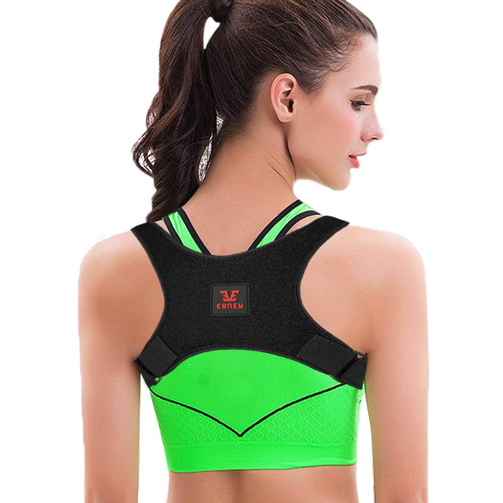 【2019 New Version】Eoney Posture Corrector for Women & Men Under Clothes Effective and Adjustable Shoulder Belt for Slouching & Hunching Upper Back Brace (FDA Approved)
