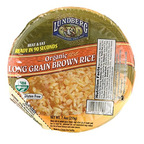 Lundberg Organic Brown Rice Bowl, Long Grain, 7.4 oz