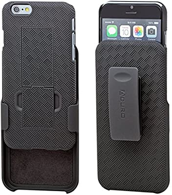 iPhone 6S / 6 Case, Aduro® COMBO Shell & Holster Case [Lifetime Warranty] Super Slim Shell Case w/ Built-In Kickstand + Swivel Belt Clip Holster for Apple iPhone 6S / 6