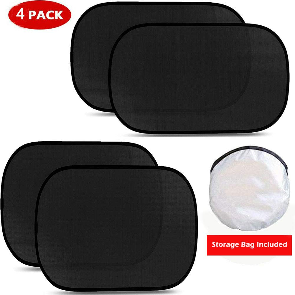 4PACK- SET TKING Car Window Shades Car Sun Shades Protects Baby /& Kids /& Pets from Glare and UV Rays,Fits Most Car Windows