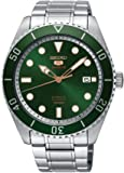 Seiko 5 Sports SRPB93 Men's Stainless Steel Green Bezel and Dial Automatic Watch