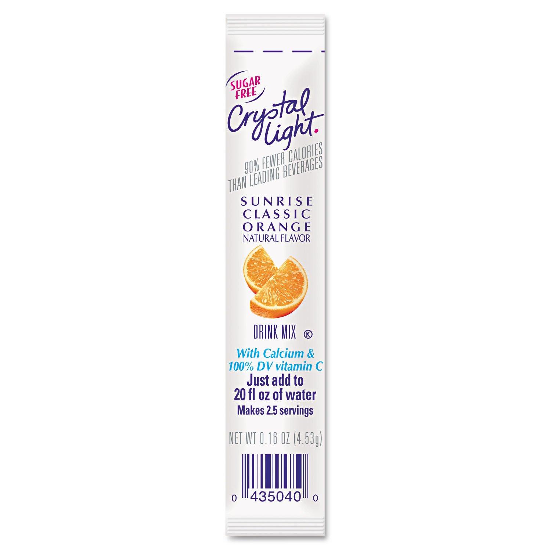 Crystal Light 00504 On the Go, Sunrise Orange.16oz Packets, 30/Box