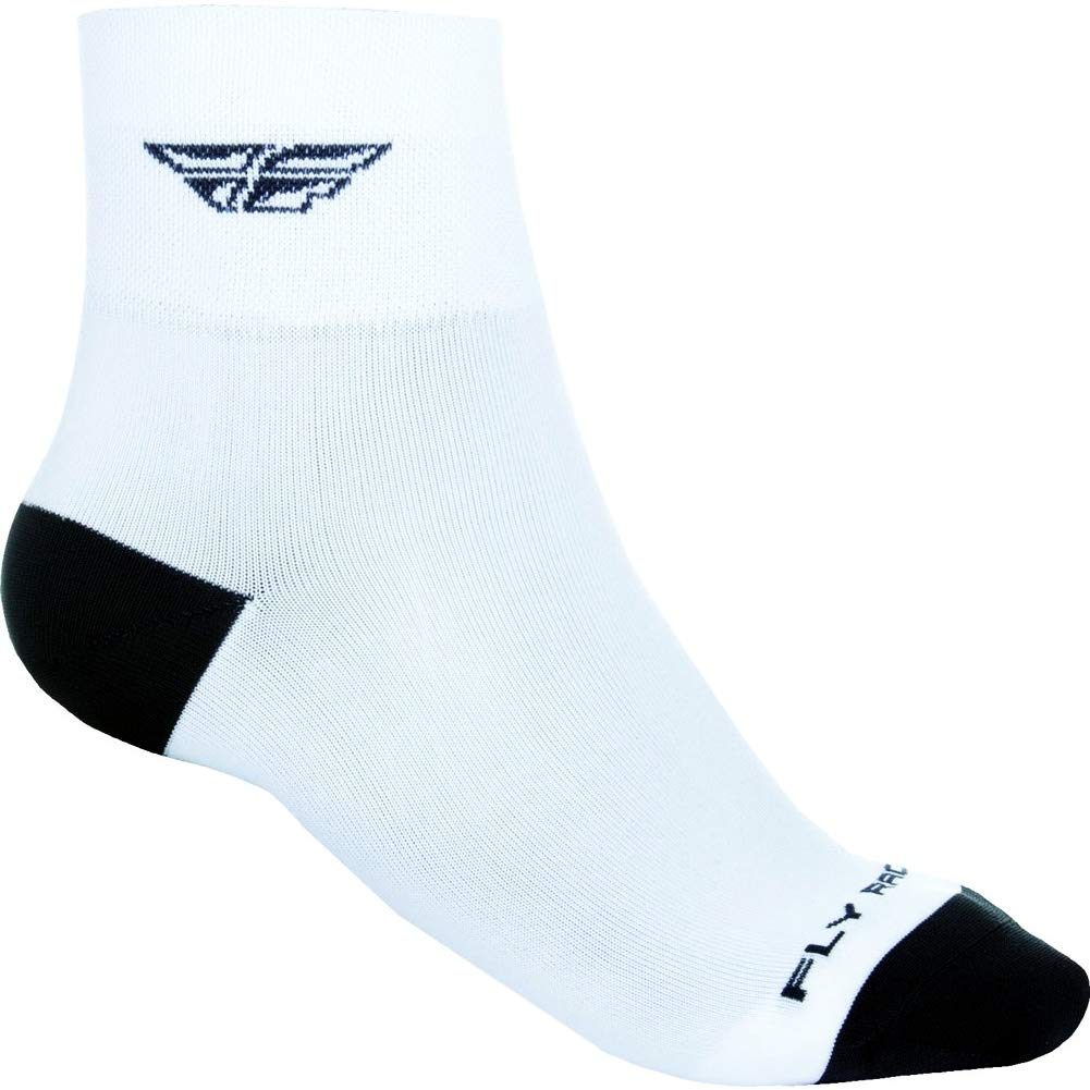 Fly Racing Unisex-Adult Shortsy Socks (White/Black, Small/Medium) 350-0384S