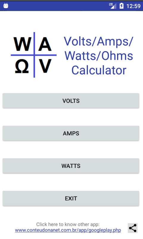 Amazon.com: Volt/Amp/Watt/Ohm - Calculator