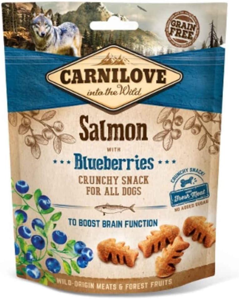Carnilove Carnilove Crunchy Snack Salmon & Blueberries, Premios Para Perro, 200g - 200 gr