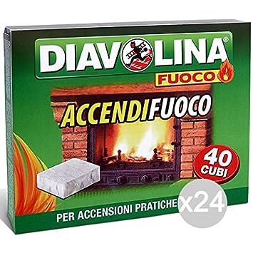 Set 24 DIAVOLINA Encendedores X40 Barbacoas Y Chimeneas