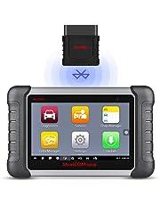 Autel MaxiCOM MK808BT OBD2 La herramienta de diagnóstico del escáner con MaxiVCI es compatible con IMMO / EPB / SAS / BMS / TPMS / DPF,Versión actualizada de MK808 (soporte en español)