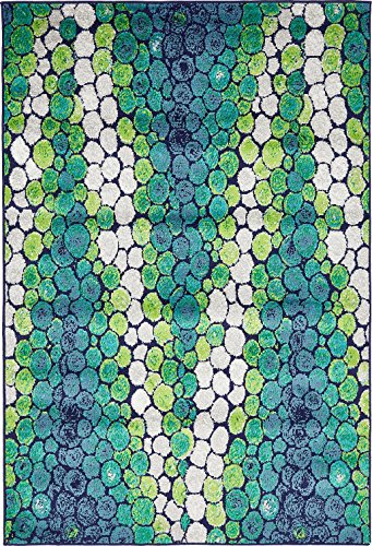 A2Z Rug Modern Light Green 4' x 6' FT Fancy Collection Contemporary Area rug, Perfect For Home Floor Décor - Living Room Rugs, Dinning and Bedroom Carpet (Rug Blue Brown Green)