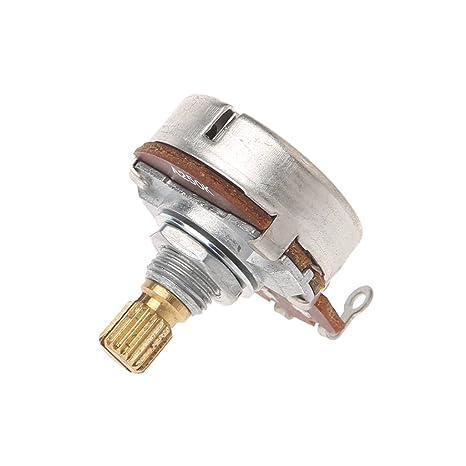 Potenciómetro A250K para guitarra eléctrica, efecto de bajo, amplificador de sonido, volumen
