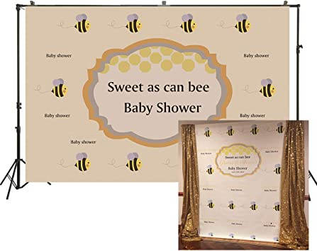 Amazon.com: HUAYI 7x5ft Sweet As Can Bee Baby Shower ...