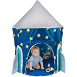 PEPECO Children Play Tent Kids Rocket Ship Indoor Playhouse