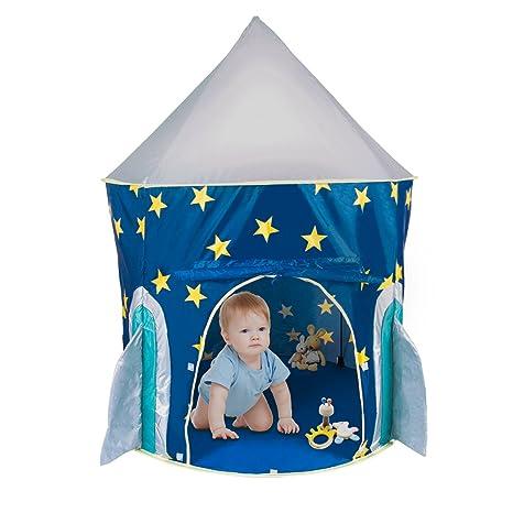 Amazon.com: PEPECO Children Play Tent Kids Rocket Ship Indoor ...