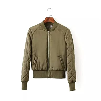 Rhouqujinh Women Jacket Army Green Baseball Jackets Chaquetas Mujer Jaqueta Feminina Coat Women Army Green S
