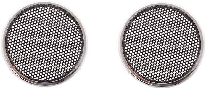 """2pcs 2/""""inch Red //silver Speaker grille speaker decorative ring Protective cover"""