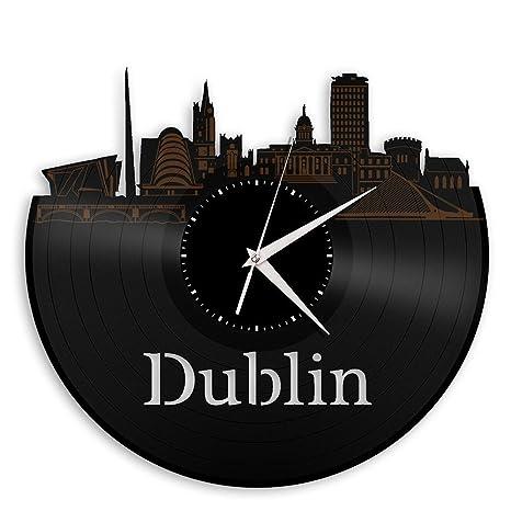 Amazon.com: vinylshopus – Dublin de vinilo reloj de pared ...