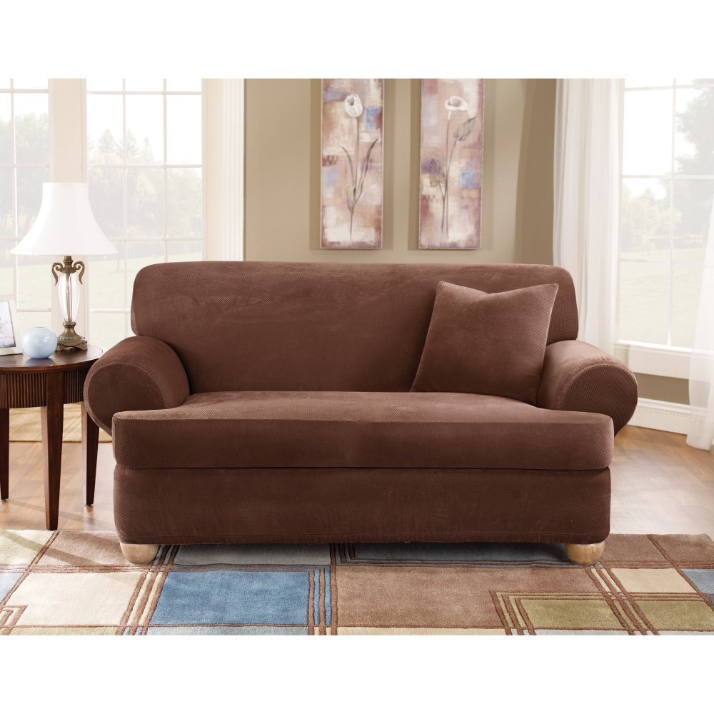 Amazon.com: Sure Fit Stretch Pique T Cushion Three Piece Sofa Slipcover:  Home U0026 Kitchen