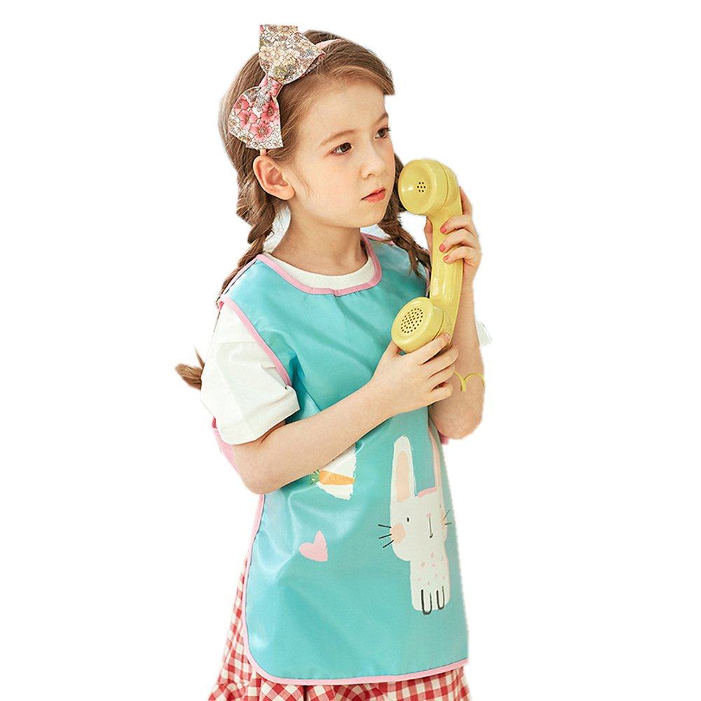 Children Art Craft Aprons Bib with Cute Big Pocket for Artist Painting//Handwork//Eating Hosim Kids Painting Apron Waterproof Sleeveless Art Smock