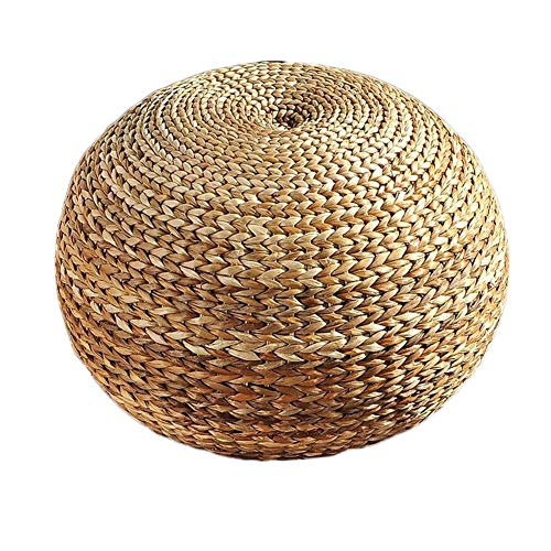 LIXIONG Outdoor Ottomans Footstools Household Rattan Hand Made Round Sofa Stool, Bearing 150KG, 2 Colors (Color : Natural)