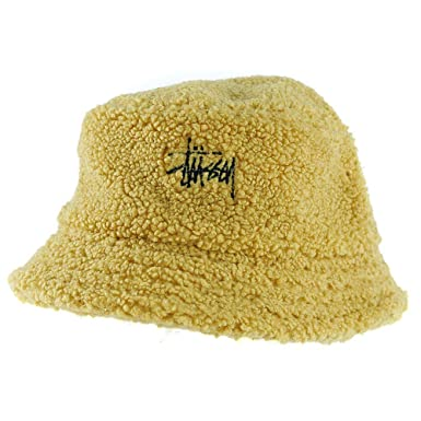 Stussy Sherpa Fleece Bucket Hat Yellow Small Medium  Amazon.co.uk ... 1df85b0a7cd