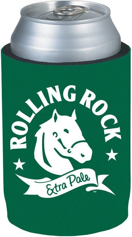 Amazon Com Officially Licensed Rolling Rock Can Holder Neoprene Beer Huggie Cooler Sleeve 1 Kitchen Dining