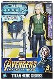 Avengers: Infinity War - Vedova Nera Black Widow Titan Hero Power FX (Personaggio 30cm, Action Figure), E0614103