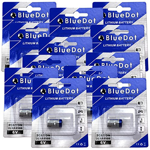 BlueDot Trading  2CR1/3N Lithium Cell Battery, 12 (160mah Battery)