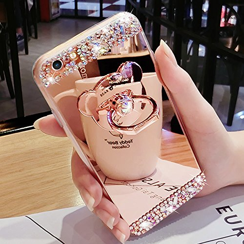 Bling Case for iPhone 6 Plus iPhone 6S Plus Rose Gold Case L