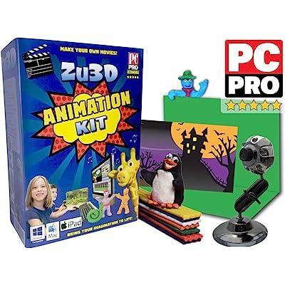 Kit Zu3D Animación para PC con Windows , Apple Mac OS X y iOS iPad : kit completo de animación stop motion con la cámara , el software y el manual de animación