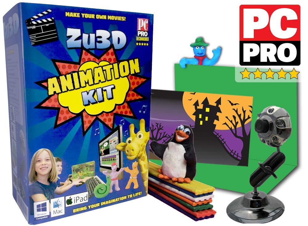 Zu3D Animation Kit for Windows PCs, Apple Mac OS X and iPad iOS: complete stop motion animation kit with camera, software and animation handbook ZuLogic Limited