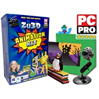 Zu3D Complete Stop Motion Animation Software Kit For Kids Includes Camera Handbook And Two Software Licenses Works On Windows Apple Mac OS X And iPad iOS