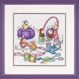 House Mouse Sew Busy Counted Cross Stitch Kit-11x11 18 Count