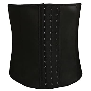 957ff1b2ff2aa Men s Latex Tummy Control Steel Boned Waist Trainer Workout Sport Shapewear  Black small