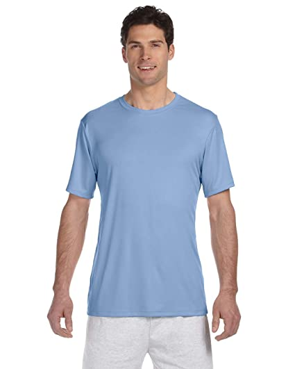 294cf998 Amazon.com: Hanes Cool DRI TAGLESS Men's T-Shirt_Light Blue_X-Small:  Clothing