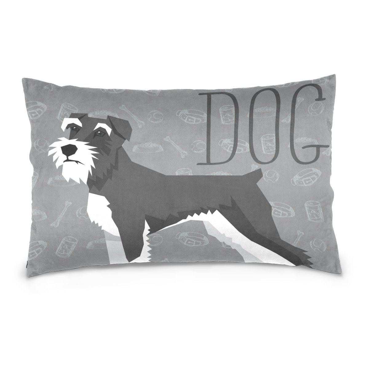 Pillow Covers Pillow Protectors Bed Bug Dust Mite Resistant Standard Pillow Cases Cotton Sateen Allergy Proof Soft Quality Covers with Cartoon Animal Dog for Bedding