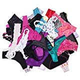 UWOCEKA Sexy Underwear, Kinds of Women T-Back Thong G-String Underpants Sexy Lacy Panties, 20 Pcs, Large