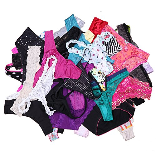 (Sexy Underwear,UWOCEKA Kinds of Women T-back Thong G-string Underpants Sexy Lacy Panties, 20 PCS, M)