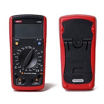 uni-t UT603 Multímetro profesional de medición Resistencia Inductor Capacitor diodo / transistor / Continuidad Zumbador: Amazon.es: Coche y moto