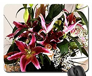 Lilium in Bloom Mouse Pad, Mousepad (Flowers Mouse Pad, Watercolor style) by mcsharks