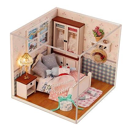 Amazon Com Nuaippp Diy Dollhouse Model Kits Furniture Wooden