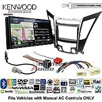 Volunteer Audio Kenwood Excelon DNX994S Double Din Radio Install Kit with GPS Navigation Apple CarPlay Android Auto Fits 2011-2013 Hyundai Sonata