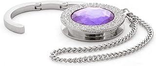 Bag Hanger - Porte-sac à main - conception diamant (violet moyen C19)
